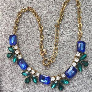 J. Crew Faceted Jewel Tone Necklace
